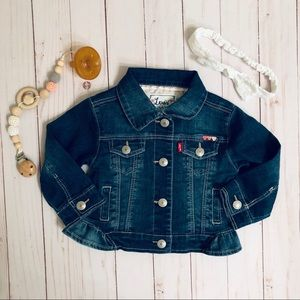 Levi's baby girl Jean ruffle jacket 6-9 months